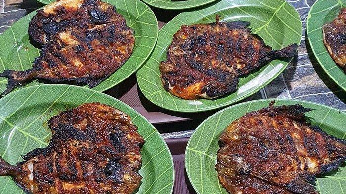 Ikan dorang bakar di Warung Lesehan Joko Kendhil