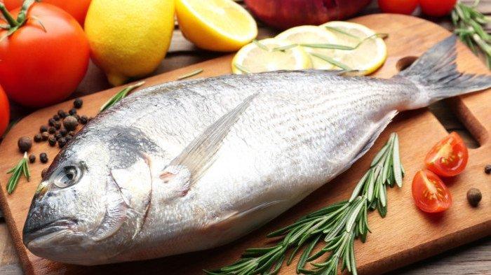 Ilustrasi Ikan mentah yang mengandung banyak protein