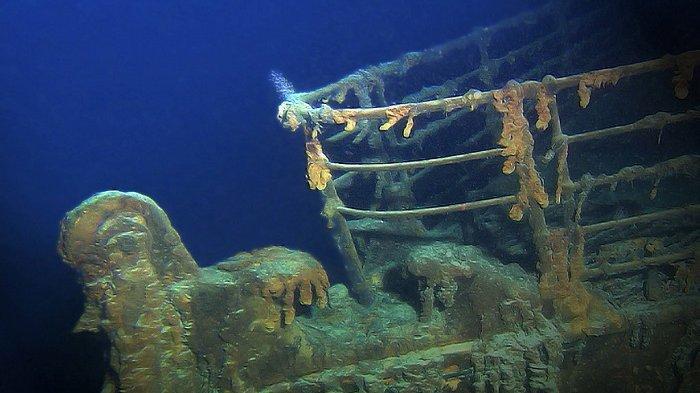 Ilustrasi bangkai kapal Titanic