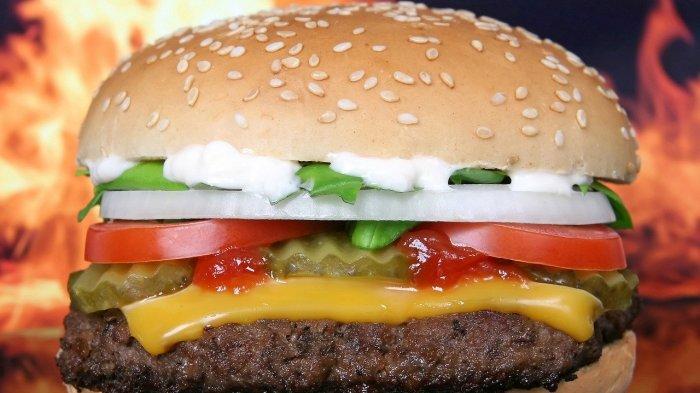 Ilustrasi burger mcdonalds