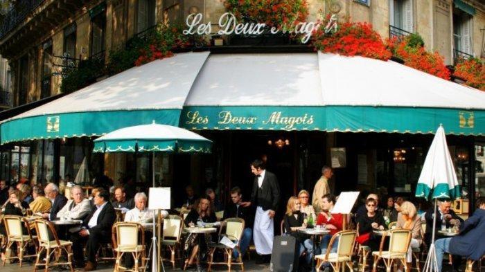 Ilustrasi kafe di Paris