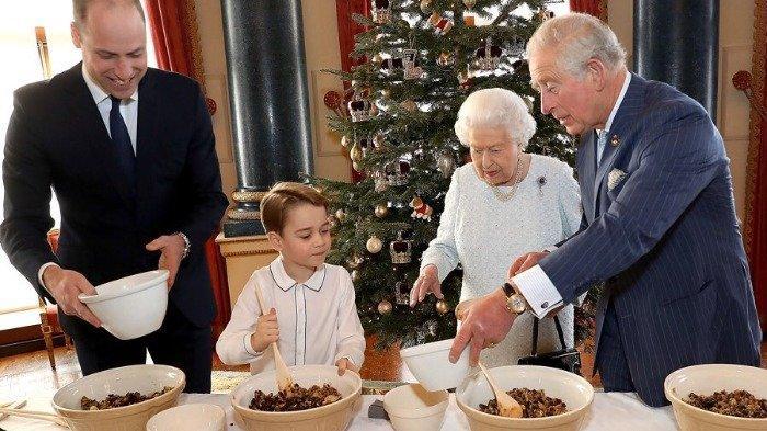 Ilustrasi Ilustrasi Keluarga Kerajaan Inggris membuat puding.