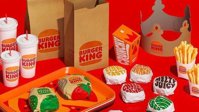 Ilustrasi kemasan baru dari Burger King