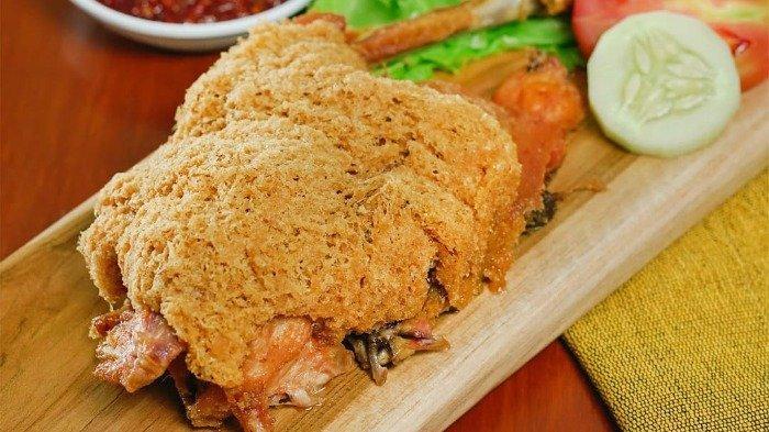 Ilustrasi kuliner ayam goreng Suharti