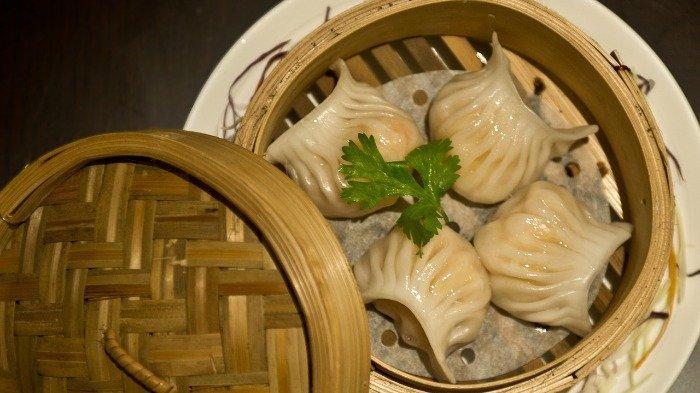 Ilustrasi kuliner Dimsum khas China
