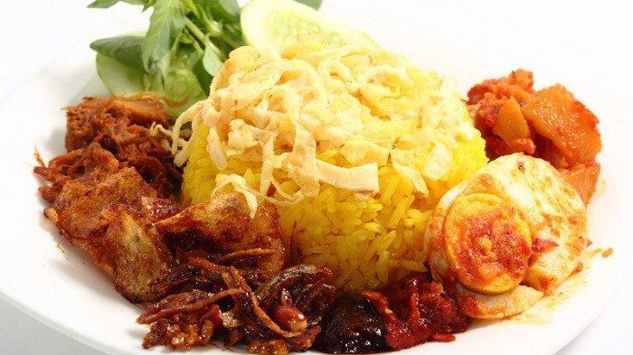 Ilustrasi nasi kuning