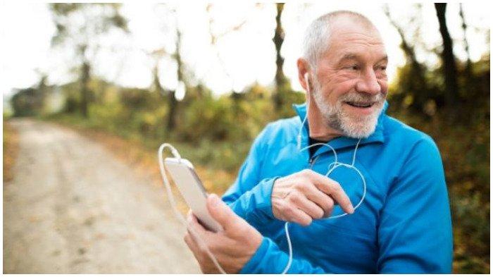 Ilustrasi orang berusia lanjut dan sehat