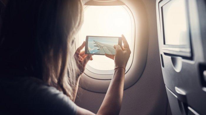 Ilustrasi penerbangan wisata