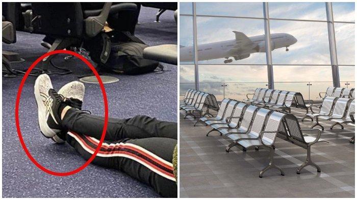 Viral di Medsos, Wanita Lakukan Hal Tak Sopan di Lantai Bandara
