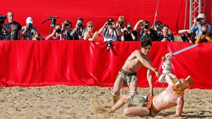 Ilustrasi pertandingan di zaman Romawi Kuno