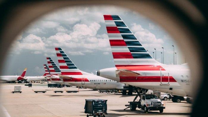 Ilustrasi pesawat dari maskapai American Airlines
