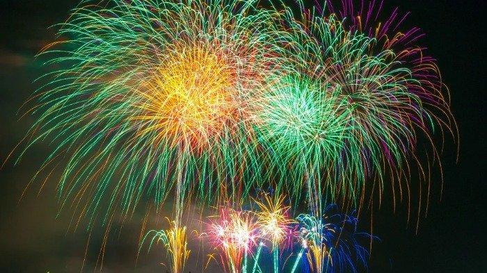 Ilustrasi pesta kembang api