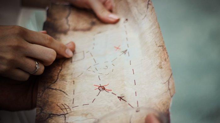 Ilustrasi peta harta karun