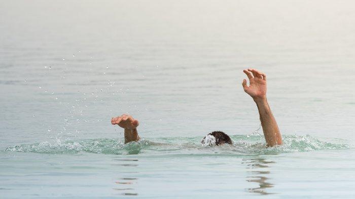 Ilustrasi seorang pria yang tenggelam