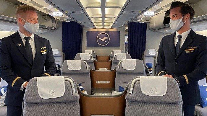 Ilustrasi tempat duduk di pesawat