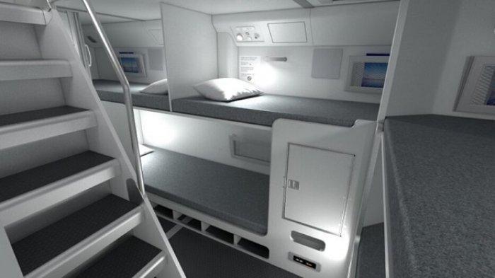 Ilustrasi tempat istirahat kru pesawat selama penerbangan