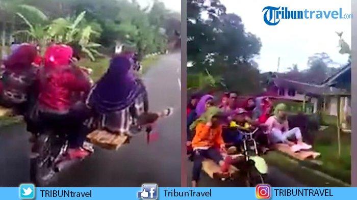 Lihat Videonya! Satu Motor Ditumpangi oleh 10 Orang, Cuma di India Ada Pemandangan Seperti Ini