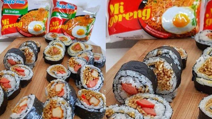 Usai Donat Dan Onigiri Kini Ada Indomie Sushi Simak Cara Buatnya Tribun Travel
