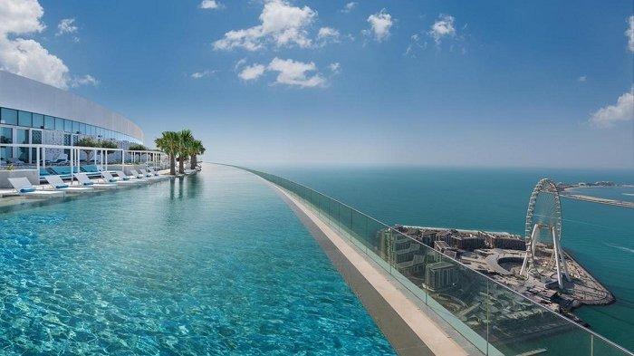 Pecahkan Rekor, Resor Mewah di Dubai Ini Punya Infinity Pool Tertinggi di  Dunia - Tribun Travel
