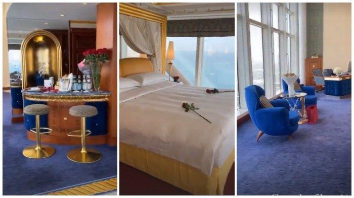 Instagram Story Rachel Vennya menunjukkan kamarnya di hotel Burj Al Arab