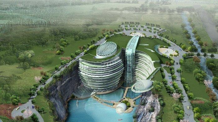 Hotel Bawah Tanah Akan Segera Dibuka di Shanghai, 16 Lantai Bawah Tanah dan 18 Lantai di Permukaan