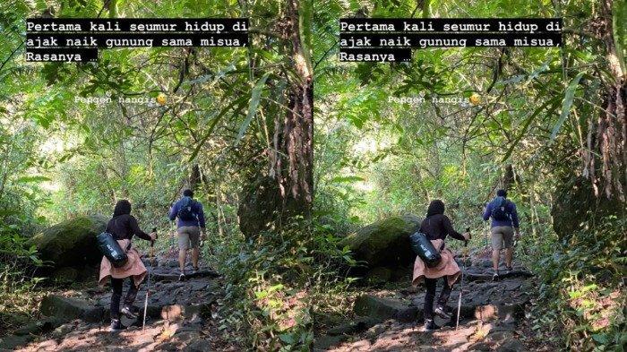Potret seru Irish Bella dan Ammar Zoni saat mendaki ke Gunung Gede Pangrango.