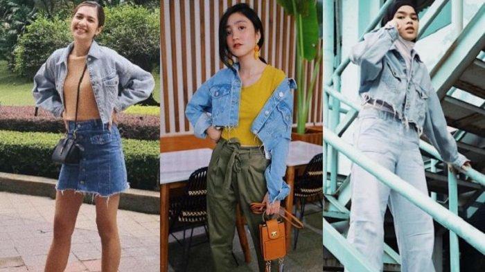 4 Rekomendasi Jaket Jeans Croppty Kekinian ala Selebriti dengan Harga Terjangkau