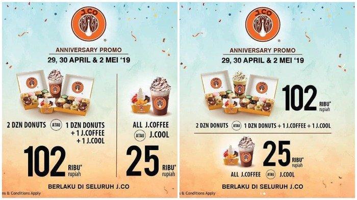 Promo Spesial Anniversary ke-13 dari J.CO Indonesia, Beli 2 Lusin Donut Cuma Rp 102 Ribu
