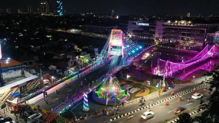 Beginilah Penampakan Jembatan Sawunggaling Surabaya yang Makin Memesona saat Malam Hari