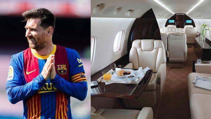 Harganya Rp 242 Miliar, Seperti Apa Mewahnya Jet Pribadi yang Dipakai Lionel Messi?