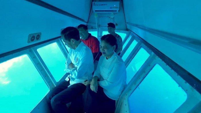 Kunjungan ke Sulut, Jokowi dan Iriana Sempat Nikmati Keindahan Bunaken