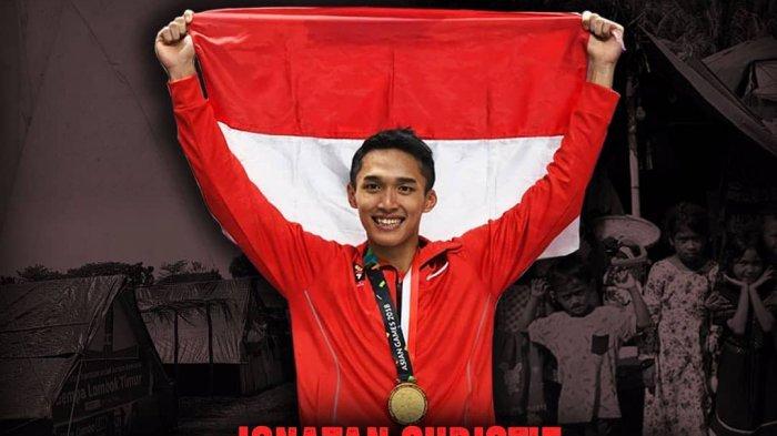 Dapatkan Emas pada Ajang Asian Games 2018, Jonatan Christie Penuhi Nazar