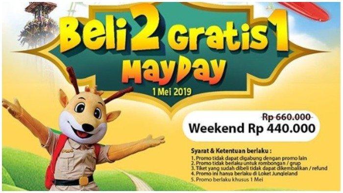 Cuma Hari Ini Saja - Promo Buy 2 Get 1 Tiket JungleLand Adventure Theme Park, Cek Ketentuannya