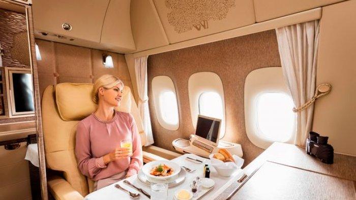Intip Mewahnya Kabin Pesawat Kelas Utama Terbaik Dunia, Ada Shower Spa hingga Suite Pribadi