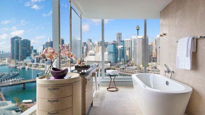 Salah satu sudut kamar Hotel Sofitel Sydney Darling Harbour