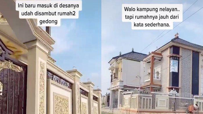 Viral Deretan Rumah Mewah Bak Sultan di Kampung Nelayan Pati, Begini Penampakannya