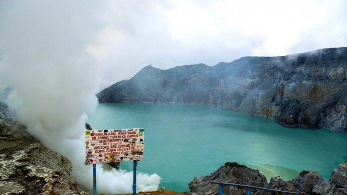 Gelombang Setinggi 3 Meter di Danau Kawah Gunung Ijen Adalah Tsunami, Begini Penjelasannya