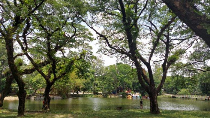 Kawasan pemancing di Taman Satwa Taru Jurug