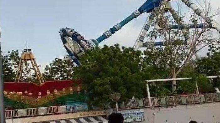 Detik-detik Wahana Ekstrem di Taman Bermain India Patah, 2 Orang Tewas
