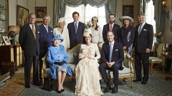 Ilustrasi potret Keluarga kerajaan Inggris