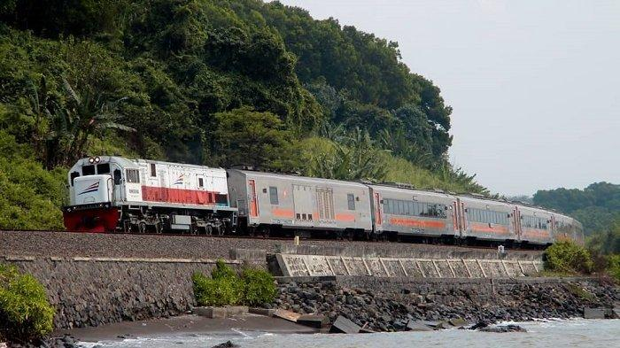 Ilustrasi perjalanan Kereta Api Kertajaya.