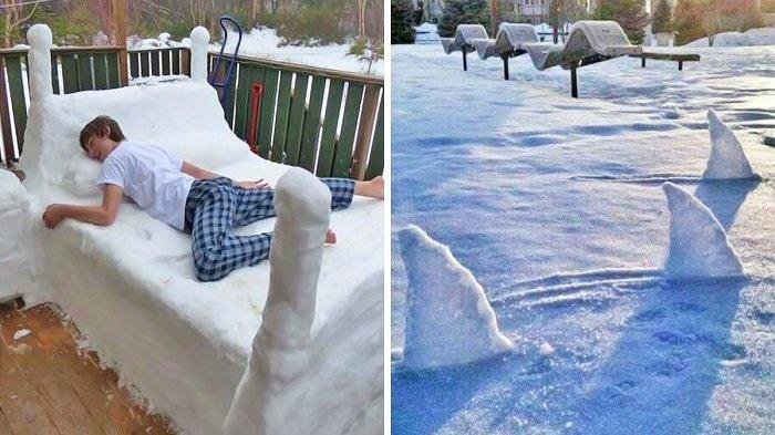 Salju Tak Selalu Merugikan, Lihat 10 Aksi Lucu Orang Berselera Humor Tinggi saat Memainkannya