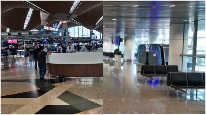 Foto-foto Bandara Kuala Lumpur Pasca Kebijakan 'Lockdown' Malaysia