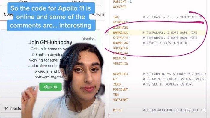 Kode Apollo 11 yang beredar di internet