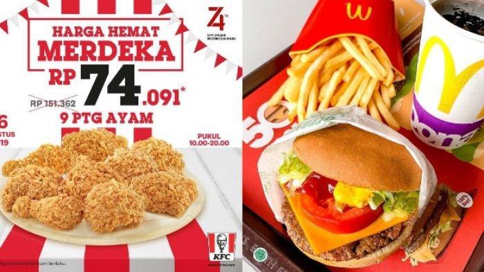 8 Restoran Cepat Saji Tebar Promo Kemerdekaan HUT ke-74 RI