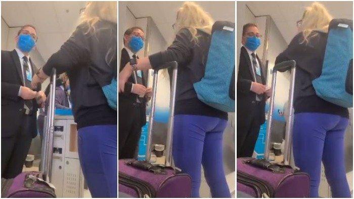 Kolase penumpang yang adu mulut dengan agen penerbangan