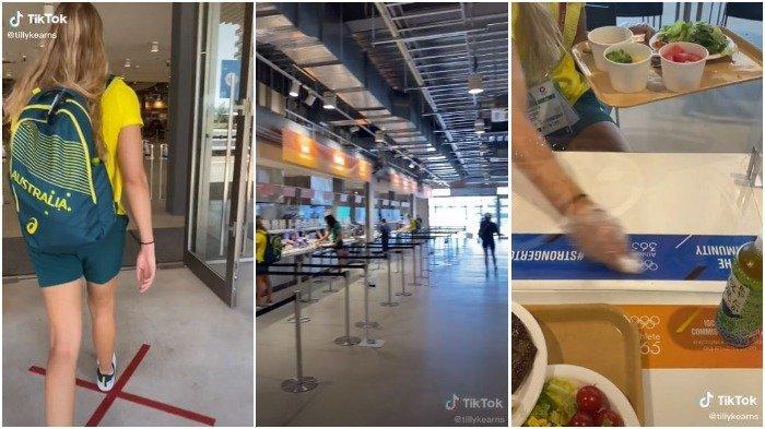Kolase suasana kafetaria Olympic Village