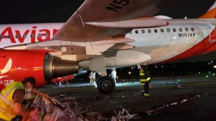 Momen Menegangkan Pesawat Terbang Menabrak Balon Kembang Api saat Mendarat