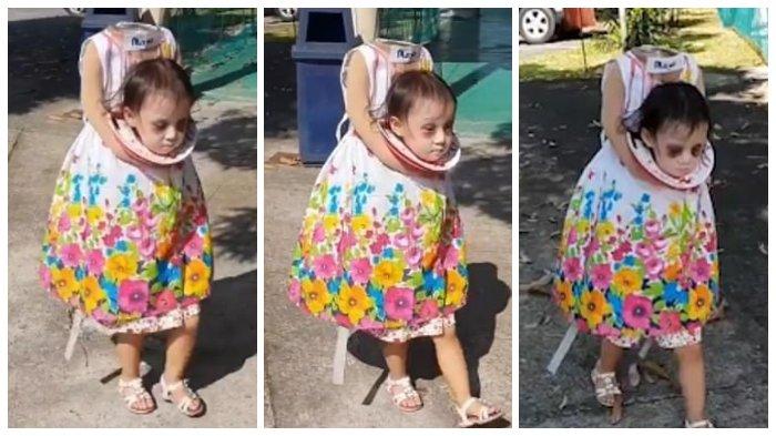 Viral Video Anak Kecil Berkostum Halloween Hantu Tanpa Kepala di Filipina