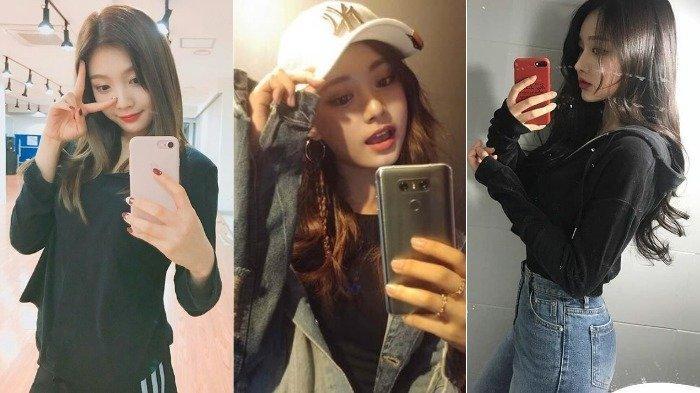 Kpop selfie di depan cermin